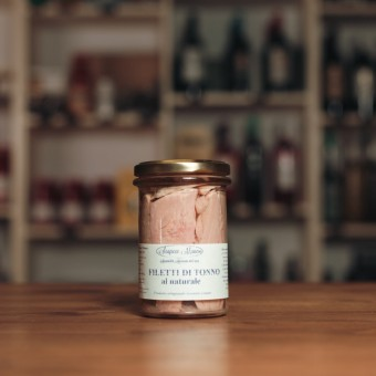 Filetti di Tonno all'olio di oliva 200 g - Scapece Manno