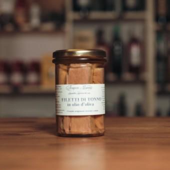 Filetti di Tonno all'olio di oliva 300 g - Scapece Manno