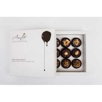 Praline Gelato ricoperte di Cioccolato Fondente