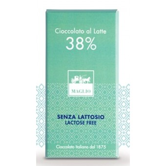 Tavoletta Cioccolato al Latte senza Lattosio 100 g - Maglio