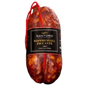 Soppressata Piccante - Intero 400 g - Salumificio Santoro