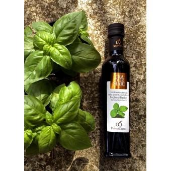 Olio extravergine di oliva aromatizzato al basilico